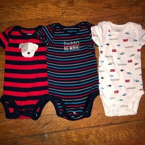 Child of Mine by Carters 3 piece onesies Newborn